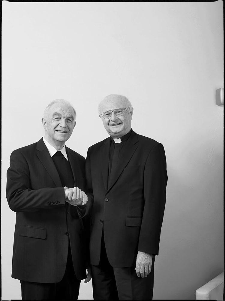 Johannes Schäfer, Pfarrer im Ruhestand; Robert Zollitsch, Erzbischof, bis 2014 Vorsitzender der Deutschen Bischofskonferenz