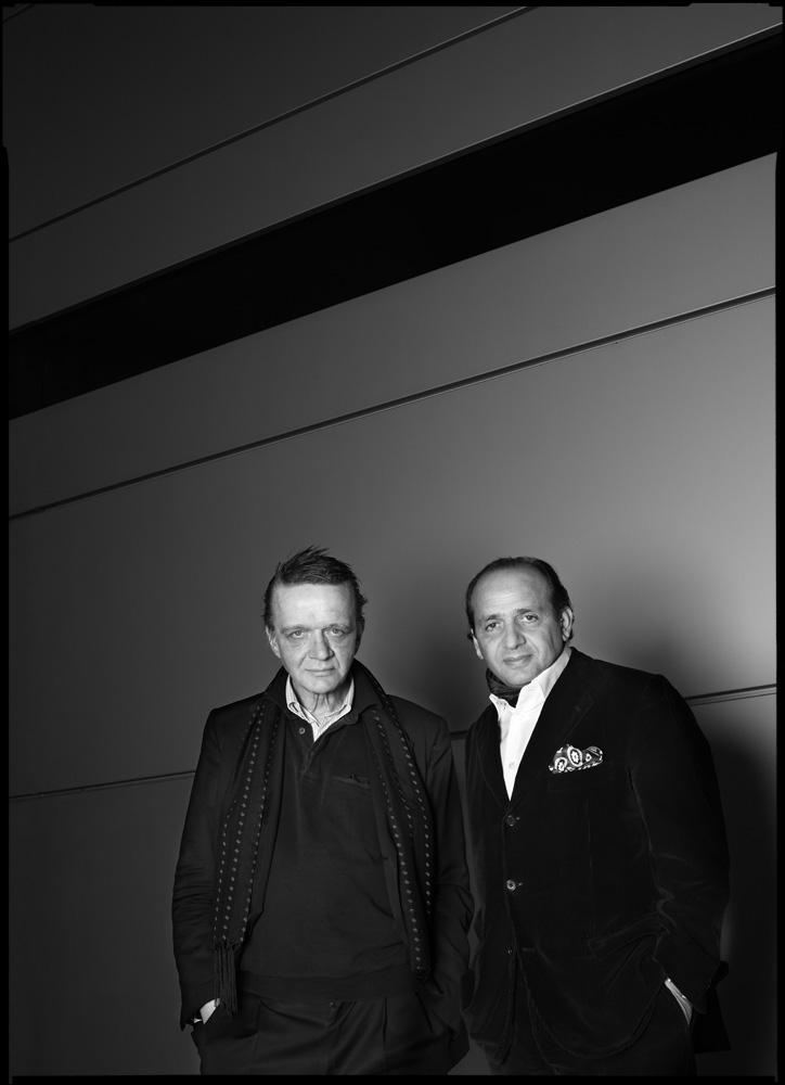 Klaus Kumrow, Künstler und Hadi Teherani, Architekt